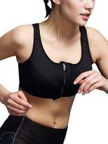 Aivtalk Women Breathable Athletic Bra Absorbant Soft Comfortable Racerback Yoga Bras Medium High Impact Removable Padding Sports Bras S