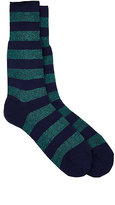 Barneys New York MEN'S STRIPED MID-CALF SOCKS