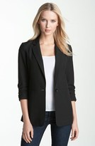 MICHAEL Michael Kors Ruched Sleeve Boyfriend Jacket (Regular & Petite)