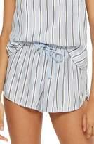 Topshop Bobby Brushed Stripe Pajama Shorts