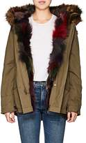 Barneys New York WOMEN'S FOX-FUR-LINED COTTON CANVAS JACKET