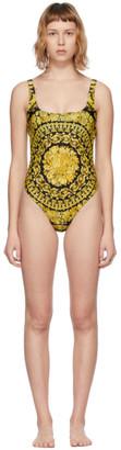 Versace Underwear Gold Barocco One-Piece Swimsuit