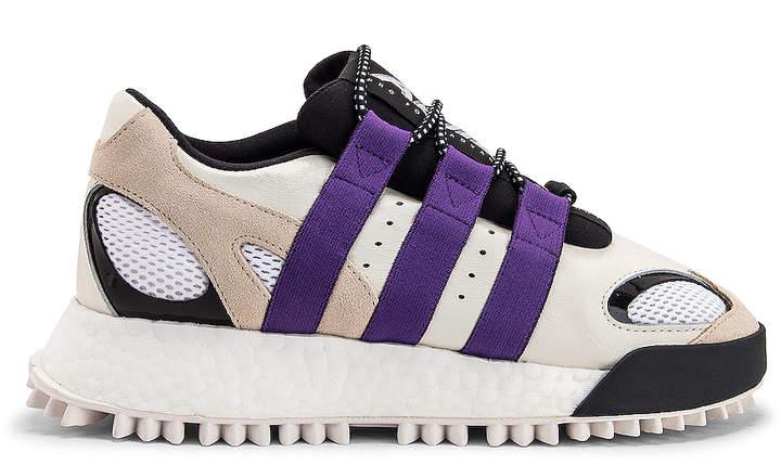 Alexander Wang Adidas By adidas by Wangbody Run Sneaker in Core White, Sharp Purple F11 & Clear Brown   FWRD