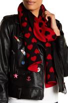 Moschino Wool Blend Heart Scarf