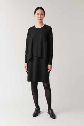 Cos Long-Sleeved Layered Dress