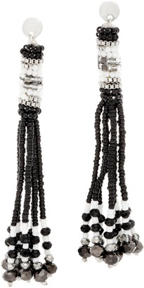 The Marrakesh - Multi-Strand Seed Bead Tassel Earrings