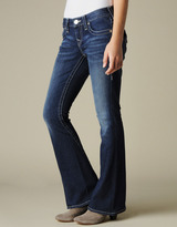 True Religion Womens Hand Picked Flare Petite Light Weight Jean