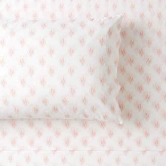 Pottery Barn Teen Paisley Organic Sheet Set, Queen, Powdered Blush