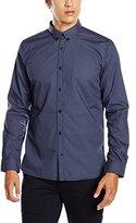 Tom Tailor Men's Floyd soft dot print shirt Casual Shirt, Blue (agate stone blue)