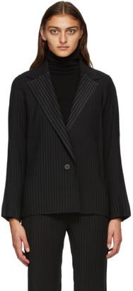 Issey Miyake Black Tuxedo Pleats Blazer