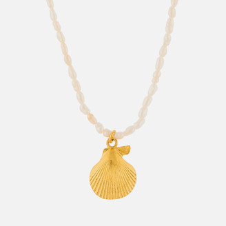 Anni Lu Women's Shell & Pearl Necklace - White/Gold