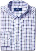 Buttoned Down Men's Fitted Button-Collar Large Tatersol Non-Iron Dress Shirt