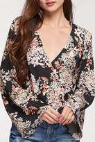 Love Stitch Lovestitch Floral Surplice Top