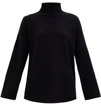Frame High-neck Cashmere Sweater - Black