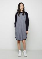 6397 Striped Denim Sweater Dress