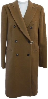McQ Camel Wool Coat for Women