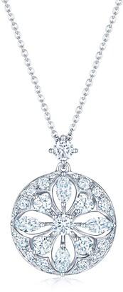Kwiat 18kt white gold diamond Star pendant necklace