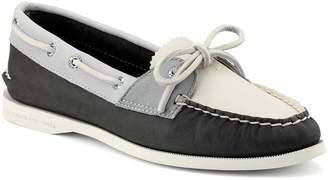 Sperry Top Sider Women's Boat Shoes CHARCOAL - Charcoal Parker Leather Boat Shoe - Women