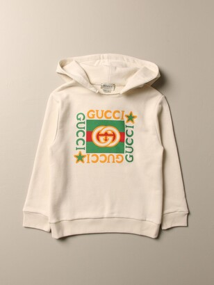 Gucci Cotton Sweatshirt With Vintage Print