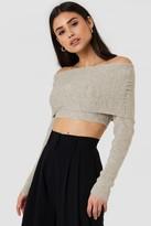 NA-KD Na Kd Cropped Folded Knitted Sweater