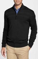 Cutter & Buck Men's 'Douglas' Merino Wool Blend Half Zip Sweater