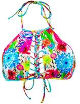 Luli Fama Multicolor String To Braids Bralette Swimsuit Paraiso.