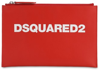 DSQUARED2 Printed Logo Leather Pouch