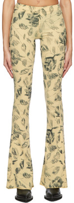 Charlotte Knowles Yellow Stream Trousers