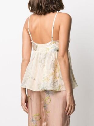 Forte Forte Cotton-Silk Blend Floral-Print Camisole