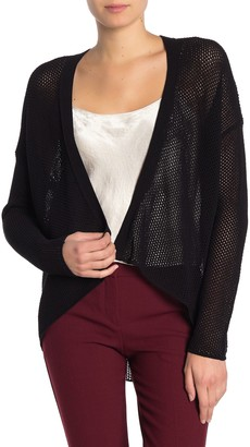 Eileen Fisher Open Weave Knit High/Low Cardigan