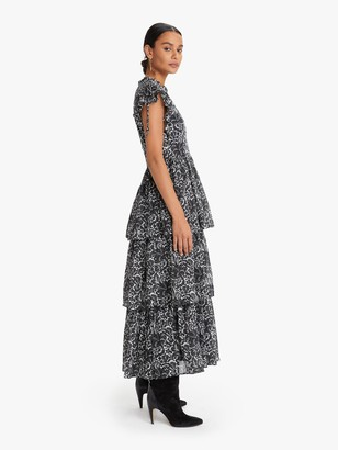 Banjanan Adriana Dress - Decoupage Floral Black