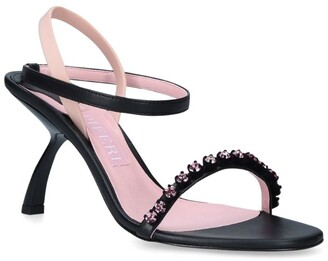 Piferi Embellished Faux Leather Fantasia Sandals 85