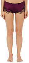 Carine Gilson WOMEN'S LACE-TRIMMED STRETCH-SILK CHARMEUSE BOXERS