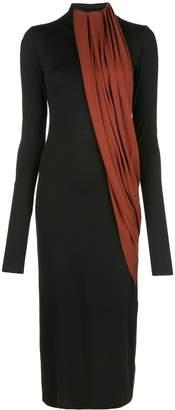 Marina Moscone two-tone long dress