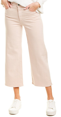 AG Jeans The Etta Pink High-Rise Wide Crop