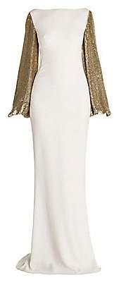 Stella McCartney Women's Sequin-Sleeve Column Gown