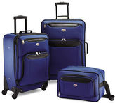 American Tourister Three-Piece Brookfield Spinner Suitcase and Boarding Bag Set
