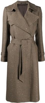 Tagliatore Carola sequined belted coat