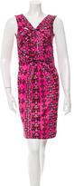M Missoni Printed Drape-Accented Dress w/ Tags