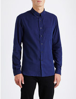Sandro Herringbone regular-fit cotton shirt