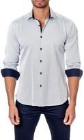 Jared Lang Micro Check Long Sleeve Trim Fit Shirt