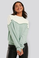 NA-KD Colour Block Sweatshirt