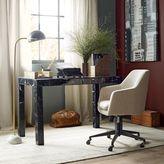 west elm Parsons Desk - Black Marble Decoupage