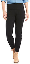 Intro Petites Teri Love the Fit Solid Studded Star Side Leg Detail Leggings