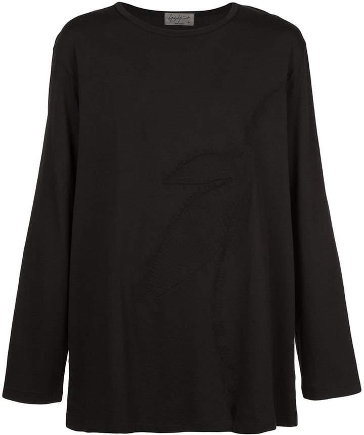 Yohji Yamamoto leaf long-sleeve T-shirt