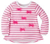 Gerber Graduates® Toddler Girls' Striped Top with Bows - Pink