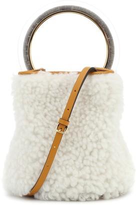 Marni Pannier Small shearling bucket bag