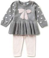 Edgehill Collection Baby Girls Newborn-6 Months Sweater Knit Top & Pants Set