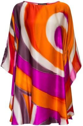Gianluca Capannolo Shelly Geometric Silk Dress