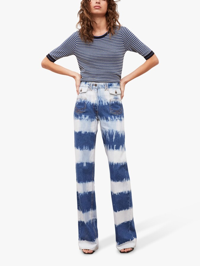 Thumbnail for your product : Gerard Darel Anna High-Waisted Wide Leg Jeans, Blue